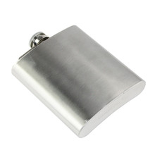 4/5/6/7/8/9/10/18 OZ Stainless Steel Pocket Hip Flask Mini Bottle Alcohol Whiskey Liquor Flask Screw Cap Flagon Wine Bottle