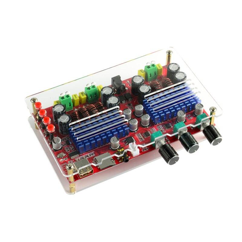 Carte amplificateur Bluetooth haute puissance TPA3116D2 amplificateurs Audio numériques 2.1 canaux Support d'amplificateur Subwoofer carte U Disk TF décodage