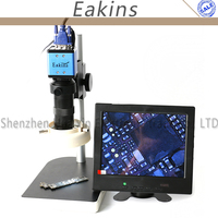 2.0mp 1/3 дюймовый Сенсор цифровой промышленный микроскоп Камера VGA Выход + 100x c креплением + 56 светодиодный кольцо свет + подставка держатель + 8