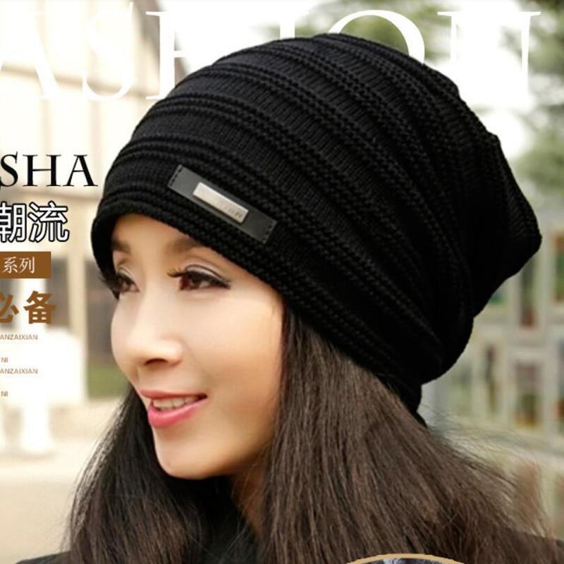 2017 Brand Beanies Knit Winter Hats For Men Women Beanie Mens Winter Hat Caps Bonnet Outdoor Ski Sports Warm Baggy Cap M-128