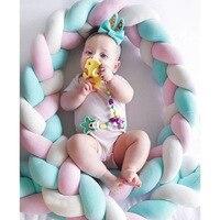 1,5 м длина Узел Кровать для новорожденных бампер длинный Узелок тесьма Детская комната Декор детской кроватки Детские бамперы