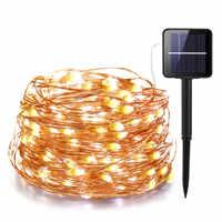 21 m/31 m/41 m/51 m LED lampe solaire extérieure LED s guirlandes lumineuses fée vacances fête de noël guirlande solaire jardin étanche lumières