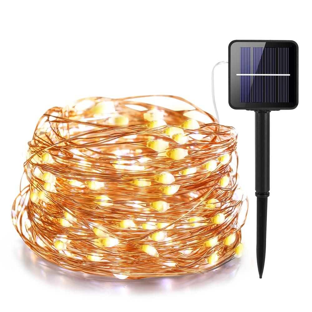 21 m/31 m/41 m/51 m conduziu a lâmpada solar ao ar livre leds luzes da corda festa de natal do feriado de fadas guirlanda jardim solar luzes à prova dwaterproof água