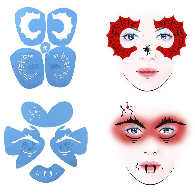 Reusable Soft Face Painting Stencils Paint Stencil Template Eye Makeup Model Party Christmas Stencils For Painting Children Making Things Convenient For Customers Body Paint Body