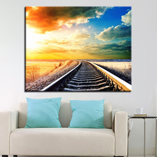 DIY Painting Acrylic On Canvas Kits Drawing By Numbers Tracks Framework Wedding Decoration Oil Wall Art Popular Sunset Picture