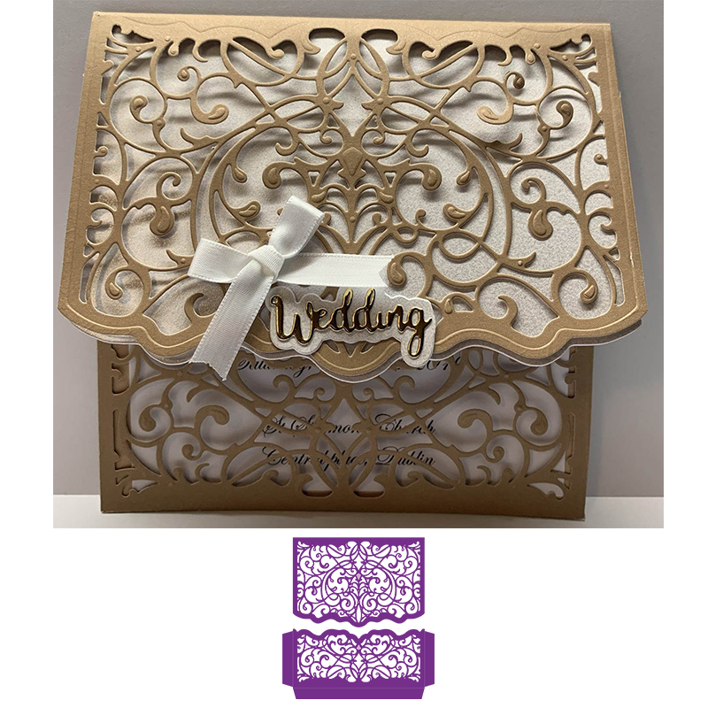 Elegant Swirls Metal Cutting Dies For DIY Scrapbooking Embossing Paper Cards Making Crafts Supplies New 2019
