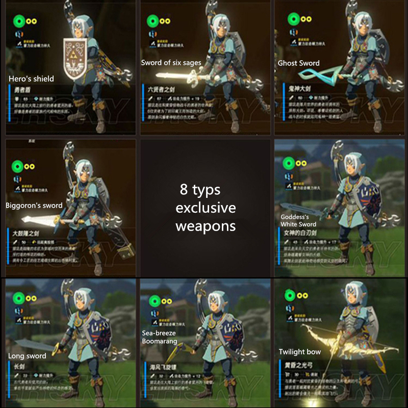 The Legend Of Zelda Breath Of The Wild Game Collection Coin Card Of Amiibo NFC Tag Ntag215 Card NS Switch Wii U Fast Shipping