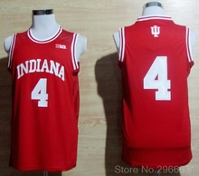 f412007a356 Throwback Men s Indiana Hoosiers Victor Oladipo 4 College Jerseys- Red  White Stitched Size S-