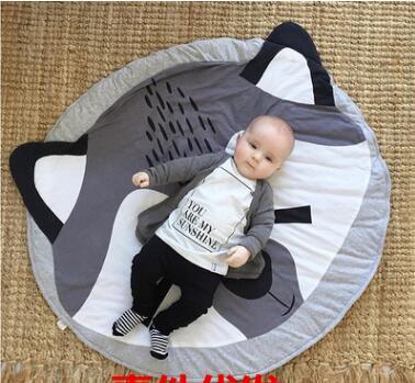 Burst fox blanket children baby crawling pad game pad children room decoration