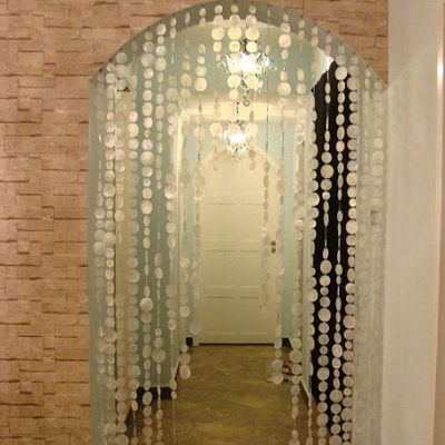 2015 1mstring natural shell string room divider romantic wedding