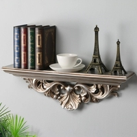 European decorative wall shelf creative room living room wall carved word partition