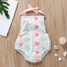 Newborn Baby Clothing Baby Rompers Infant Girl Letter Heart Arrow Printed Romper Jumpsuit Baby Costumes Baby Body suits 4 30 cheap Children Sets Fashion Polyester COTTON Girls Sleeveless O-Neck REGULAR LNP70413368 Vest Pullover Fits true to size take your normal size