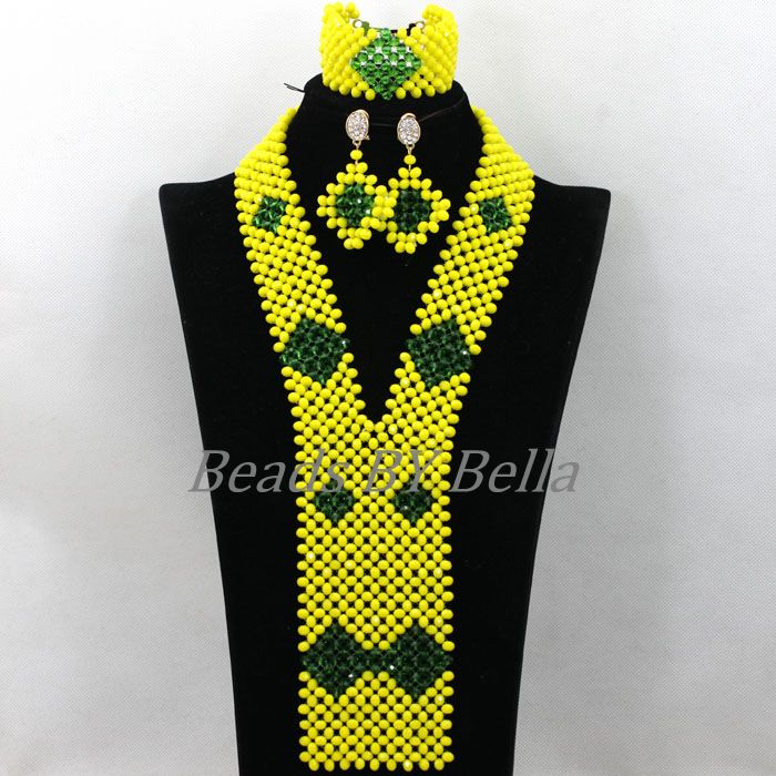 2017 New Yellow Crystal Nigerian Wedding Necklace African Beads Jewelry Set For Women Bridal Jewelry Sets Free Shipping ABK1322017 New Yellow Crystal Nigerian Wedding Necklace African Beads Jewelry Set For Women Bridal Jewelry Sets Free Shipping ABK132
