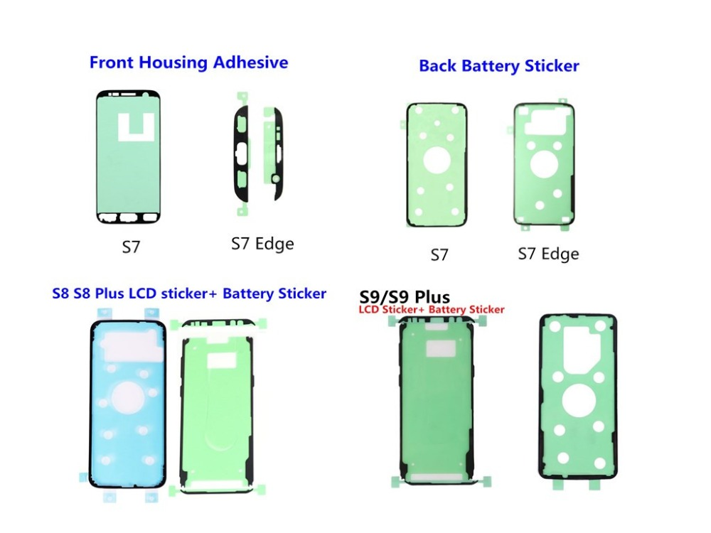 <font><b>Sticker</b></font> For Samsung <font><b>Galaxy</b></font> Note 9 8 5 S6 S7 Edge S8 S9 <font><b>S10</b></font> Plus Front LCD Frame + Rear Battery Cover Door Adhesive Tape <font><b>Sticker</b></font> image