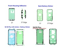 Sticker For Samsung Galaxy S6 Edge Plus S7 Edge S8 S9 Plus Front LCD Frame + Rear Back Battery Cover Door Adhesive Tape Sticker