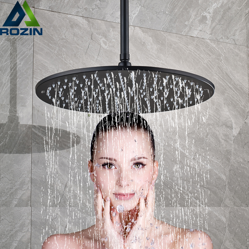 Ceiling Mounted Bathroom Shower Head 12/16 inch Big Rainfall Shower Faucet Accessory Top Round Brass Showerhead цены онлайн