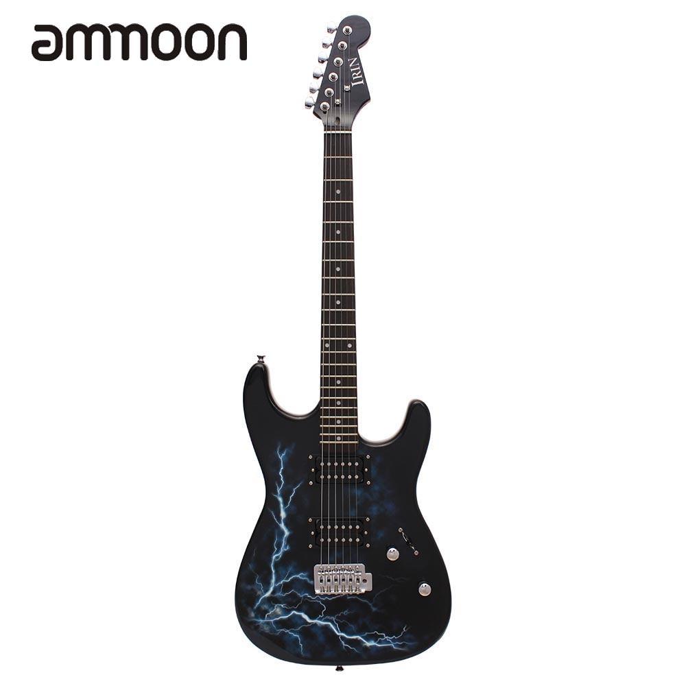 dual dual pickups electric guitar basswood body rosewood fingerboard cool lightning design with. Black Bedroom Furniture Sets. Home Design Ideas