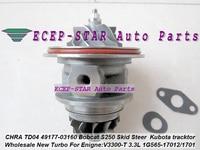 Turbo Cartridge CHRA TD04 49177 03130 49177 03140 1G565 17013 For Mitsubishi Pajero L200 Bobcat S250