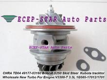 Turbo Cartridge CHRA 49177-08130 49177-03130 49177-03140 1G565-17013 For Mitsubishi Pajero L200 Bobcat S250 Loader V3300-T 3.3L