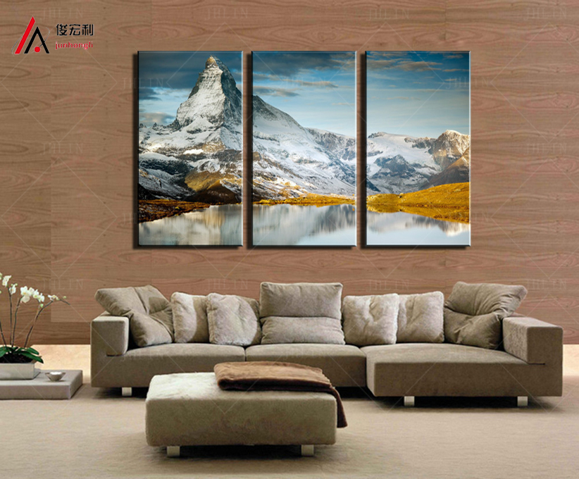 3 Pieces Modern Home Decoration Art Printed Hot sell Snow Mountain Paintings Canvas Print Pictures Wall Decor of the Living Room