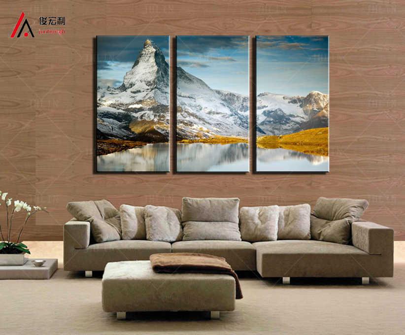 3 Stücke Moderne Hauptdekoration Kunst Gedruckt Heißer verkauf Schnee berg Gemälde Leinwand Drucken Bilder Wanddekor der Lebenden zimmer
