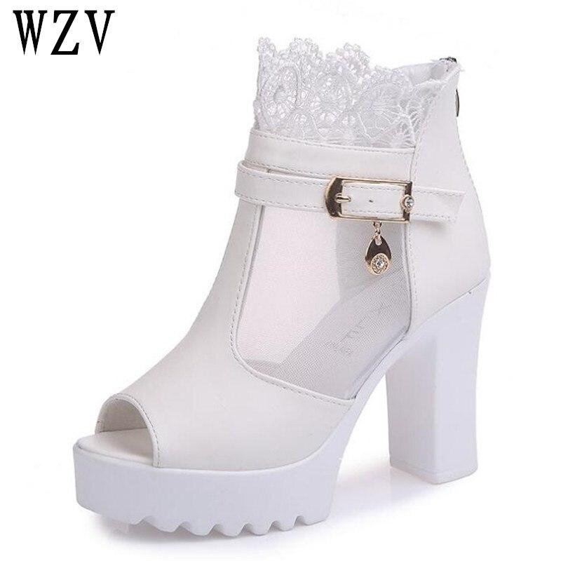 New arrival Fashion Platform 10cm High Heels Sexy Women Pumps Women Shoes Cut Outs Shoes Spring Summer Woman sandals E035