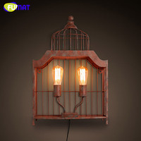 FUMAT Wall Lamps Vintage Industrial Wall Sconces Bed Room Bedside Lamp Loft Metal Wall Light Fixtuers Traditional Wall Lamp Bar