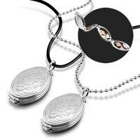 Retro 925 sterling silver piwonia wisiorek. solidna srebrny kobieta długi naszyjnik. DIY portret rodzinny okno zdjęcia wisiorek pary biżuteria