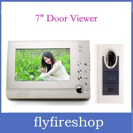 "New 7"" TFT display screen Digital door viewer 6 IR LED nightvision Handfree Intercom Doorbell Peephole Viewer"