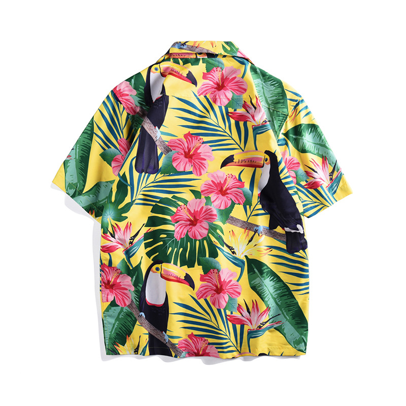 Men women 39 s loose Shirts Brand new 2019 summer short sleeves floral print Men 39 s Shirts Hawaii style Shirt A347 in Casual Shirts from Men 39 s Clothing