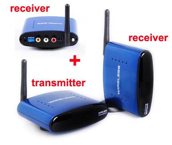 Hot 1 transmitter and 2 receivers 5.8G Wireless AV Transmitter ...