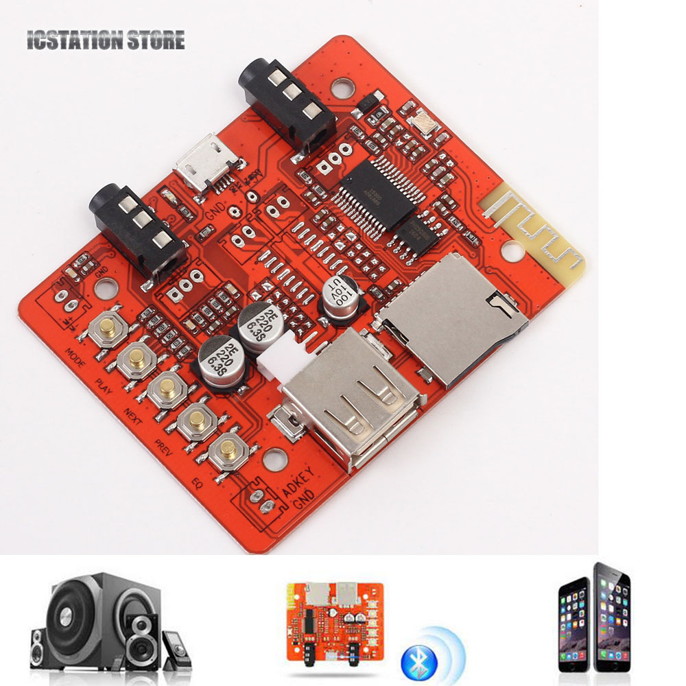5V Wireless Bluetooth Audio Receiver Board Car Audio AUX Lossless Stereo Module Amplifier Headset USB Adapter for DIY