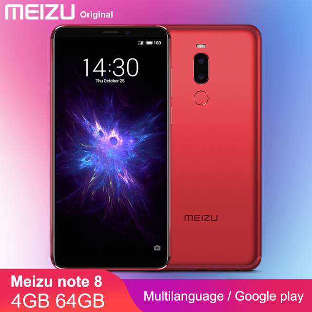 """2019 официальный Meizu Note 8 4 GB Оперативная память 64 Гб Встроенная память Note8 Смартфон Snapdragon 632 5,99 """"2160x1080 P 3600 mAh Батарея m8 Примечание"""