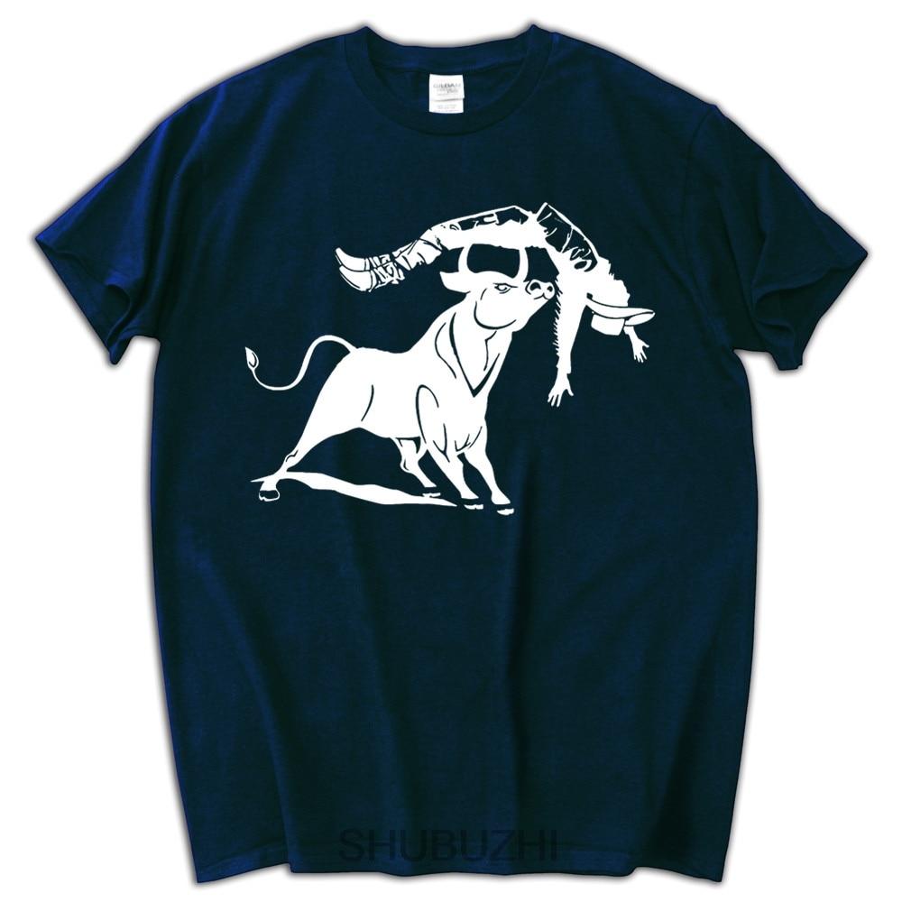 9a50cf75ff men tshirt 2017 funny Bull vs Cowboy 100% cotton cool men t-shirt big size  summer brand tee shirt male tops