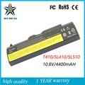 10.8 v 4400 mah de alta calidad nueva batería del ordenador portátil para lenovo thinkpad sl510 e40 t410 t420