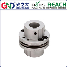 GSTB-D34 L32 coupler 8 screw high rigidity step type single diaphragm keyway series shaft coupling D1 D2:6/6.35/7/8/9/10mm inter step vels 9 7 white