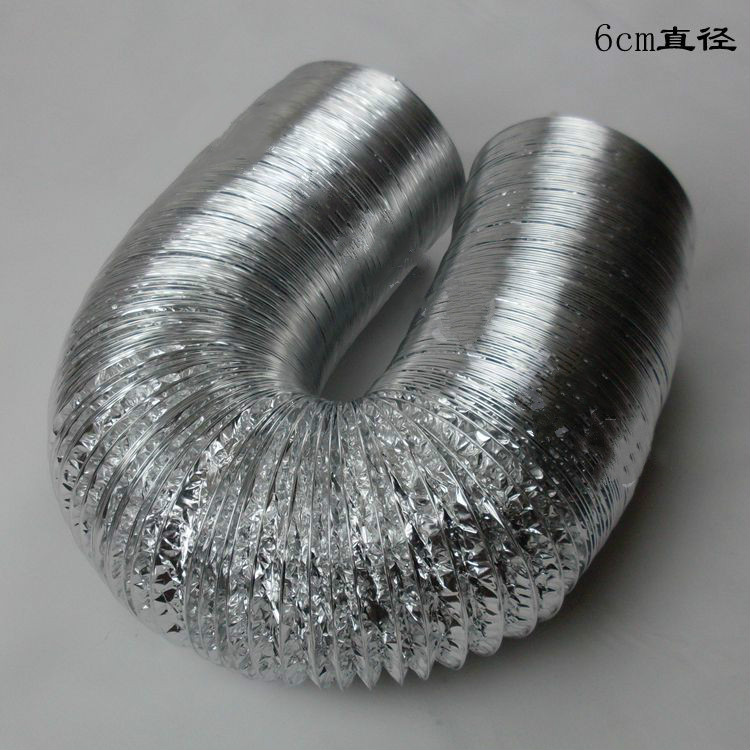 Aluminum Foil Telescopic Hose Exhaust Hood Special Smoke Pipe Exhaust Pipe Ventilation Exhaust Pipe 60mm 80mm 100mm
