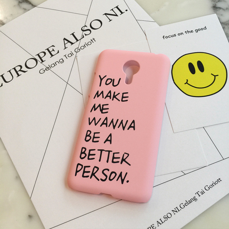 SZYHOME Phone Cases For Meizu MX 4 5 6 Pro 6 M1 M2 M3 Metal note 2 3 E Plus Case Pink letters For Note Mobile Phone Cover Case