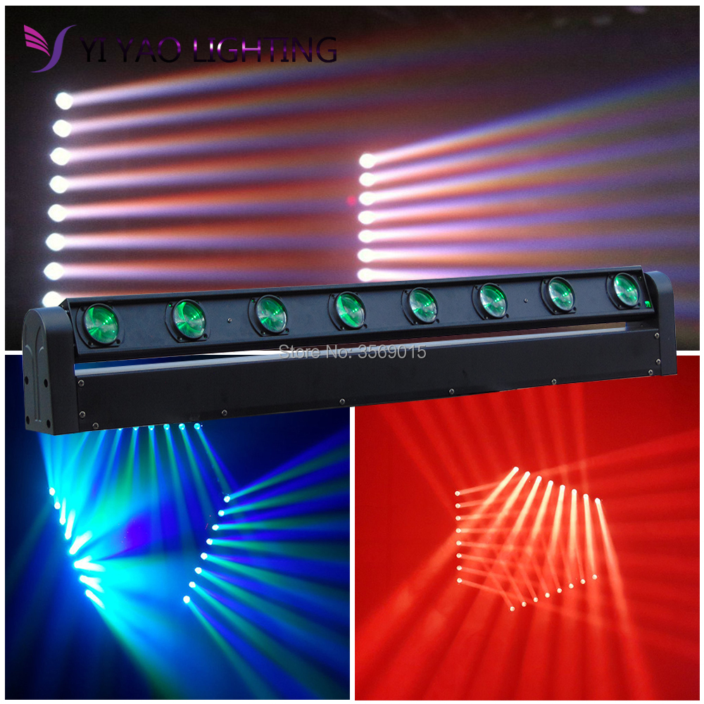 Perfect LED Beam Moving Head Light Sound Bar 8x12W Stage Lighting DJ Equipment