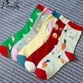 Coelho bonitinho coelho elefante impressão meias das mulheres confortável Ocasional encantador meias de algodão Quentes 5 pares/lote