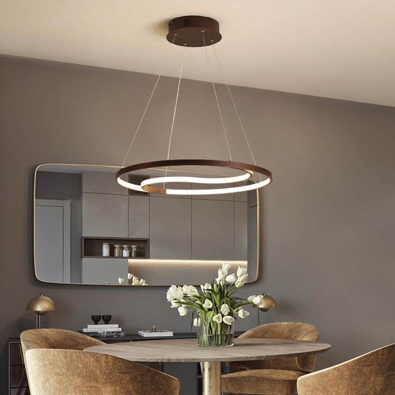Round Coffee Color Modern led Chandelier For Dining Living Room Bar Kitchen Room Hanging Pendant Chandelier Fixtures designer coffee color modern led chandelier kitchen living dinging room light fixtures led hanging chandelier