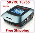 Free shiping by airmail Genuine Skyrc T6755 AC DC Balance Fast Charger Touch sensitive color LCD screen