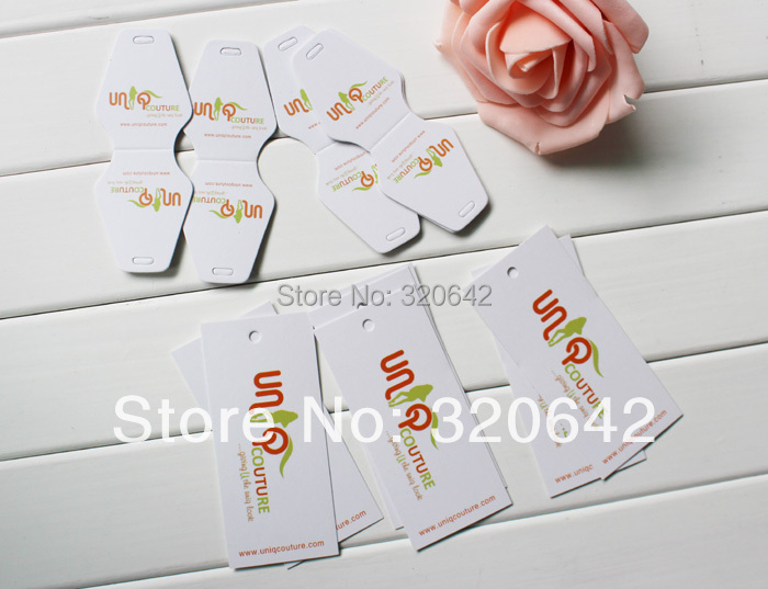 Free shipping jewelery accessories, brand name logo customized printing paper hang tags,earring price tags for clothes/jewelry