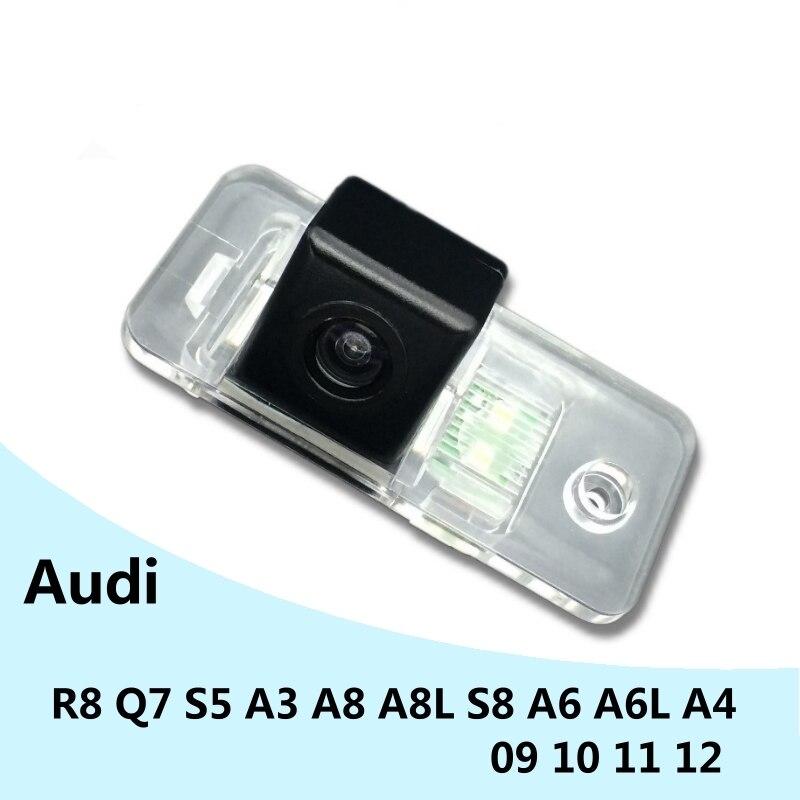 for Audi R8 Q7 S5 A3 A8 A8L S8 A6 A6L A4 09 10 11 12 Car Waterproof Night Vision reverse Rear View Reversing Backup Camera(China)