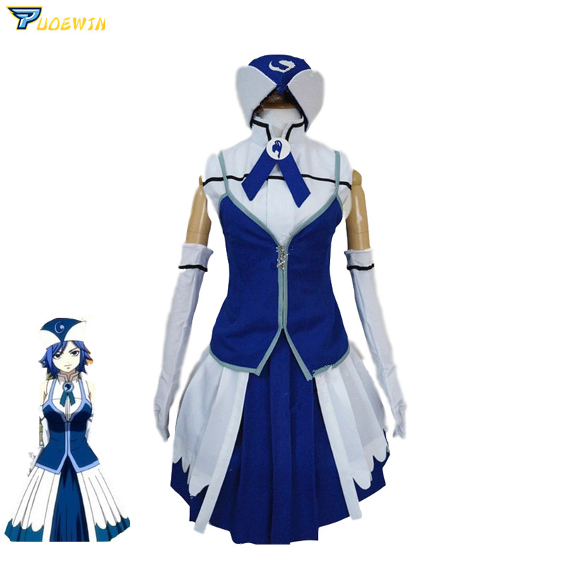 Anime Fairy Tail Juvia Lockser Cosplay Costume Custom Made Size