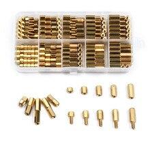 ZENHOSIT M2/M3 с шестигранной головкой, латунные стойки, винты с резьбой, 300 шт., Мужская/Женская электрическая печатная плата, комплект