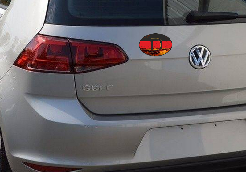 VINTAGE D GERMANY COUNTRY CODE OVAL FLAG STICKER for Guitar Helmet Laptop Book