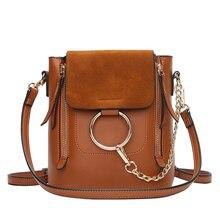 Metall Ring Schultertasche Für Frauen Wildleder Kette Crossbody Tasche Vintage Leder Frauen Handtaschen Berühmte Marken Mochilas Femininas