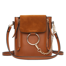 Metal Ring Shoulder Bag For Women Suede Chain Crossbody Bag Vintage Leather Bags Women Handbags Famous Brands Mochilas Femininas