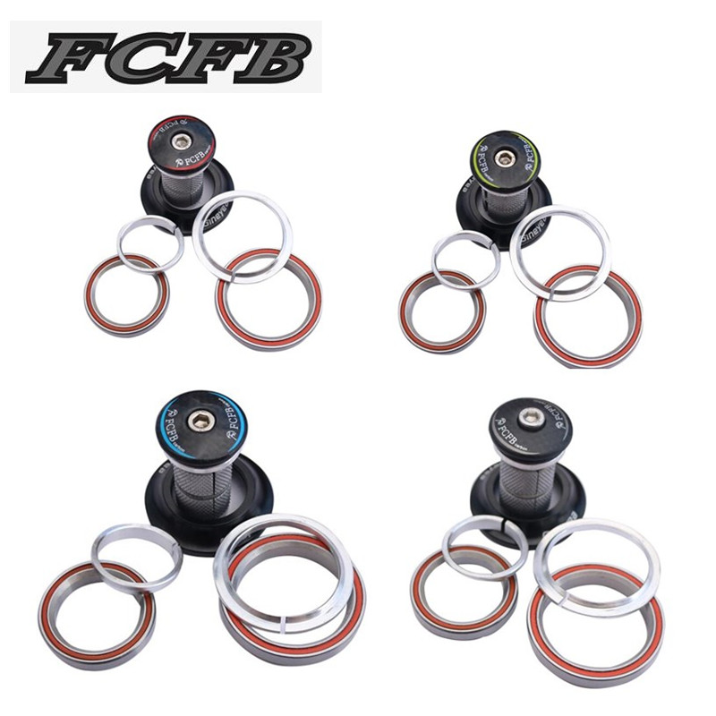 """FCFB bike parts Tapered bicycle headset 1-1/8""""-1-1/2"""" for Tapered Road/TT/MTB bicycle headset bike Available green blue red gray"""